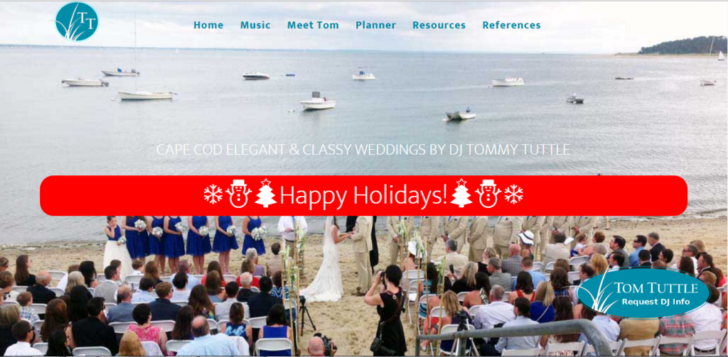 Cape Cod DJ website screenshot
