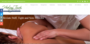 Healing Touch of Cape Cod website screenshot