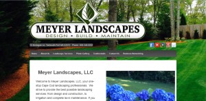 Screenshot of Meyer Landscapes website in Yarmouth MA