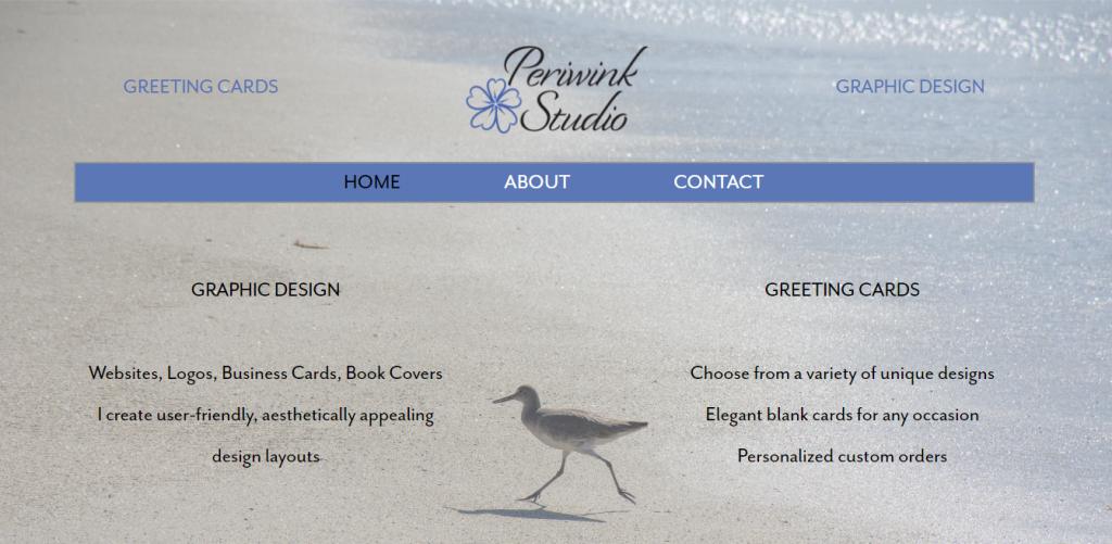 Screenshot of Periwink Studio design firm website