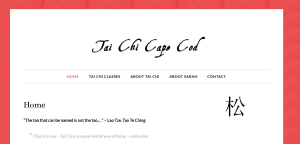 Tai Chi Cape Cod website by Ryder Web Development