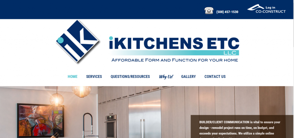 iKitchens Etc, Falmouth, website redevelopment